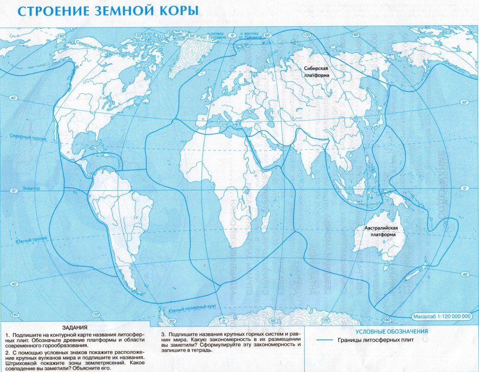 Контурная карта мира географические карты каталог статей.